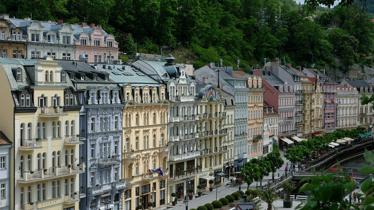The attractions of Karlovy Vary in the Czech Republic