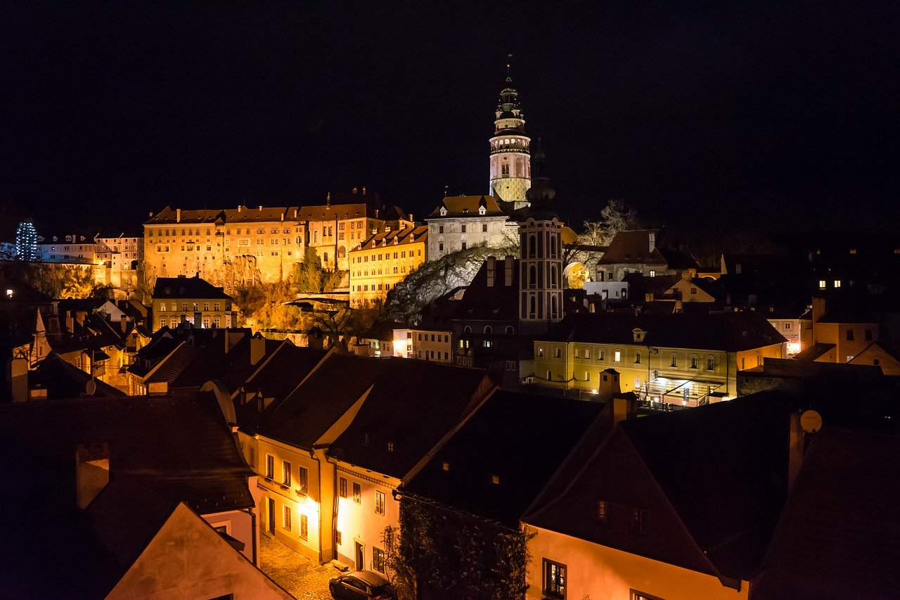 The attractions of Český Krumlov in the Czech Republic